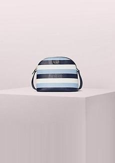 Kate Spade sylvia embossed stripe medium dome crossbody