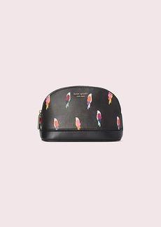 Kate Spade sylvia flock party medium dome cosmetic bag