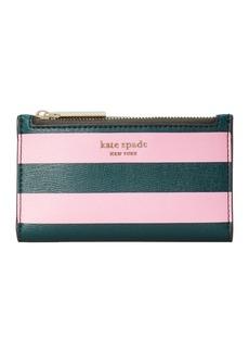 Kate Spade sylvia small striped slim bifold wallet