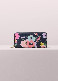 Kate Spade sylvia wildflower bouquet slim continental wallet