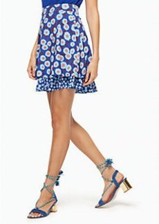tangier floral double layer skirt
