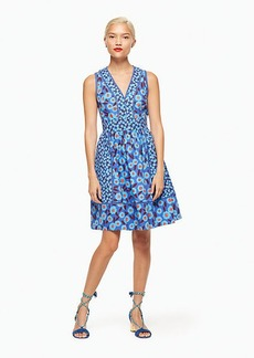 tangier floral fit and flare dress