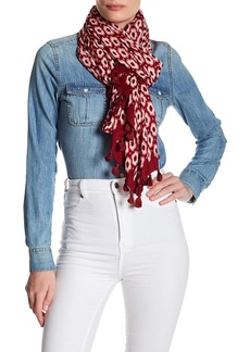 Kate Spade tassel trim print scarf