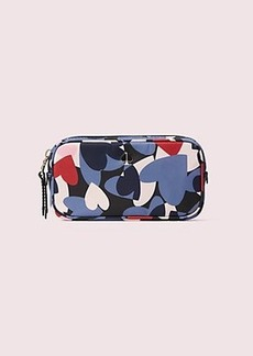 Kate Spade taylor heart party small cosmetic case