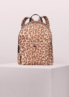 Kate Spade taylor leopard large backpack