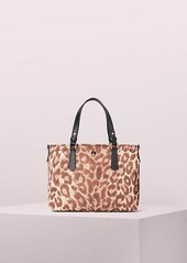 Kate Spade taylor leopard small crossbody tote