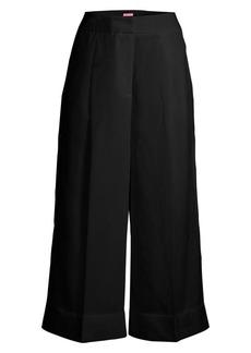 Kate Spade Tencel & Linen Cuffed Culottes