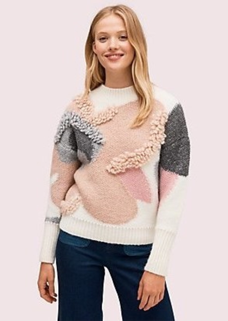 Kate Spade textured bloom sweater