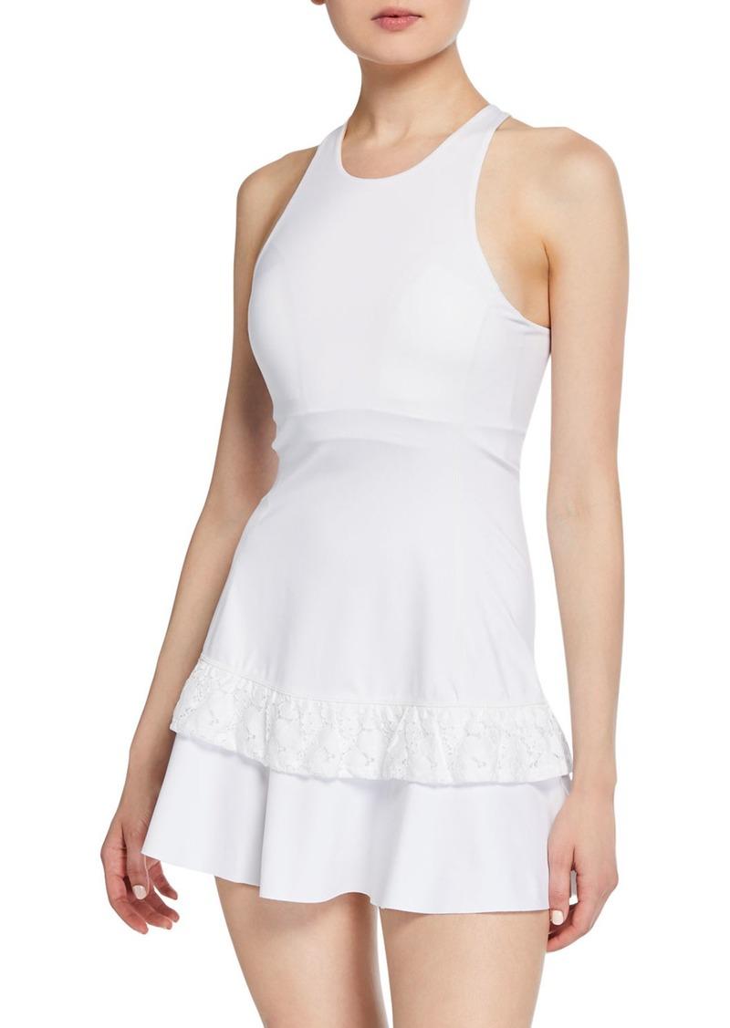 Kate Spade textured lace racerback tennis dress