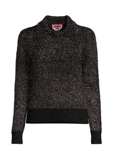 Kate Spade Textured Sparkle Polo Sweater