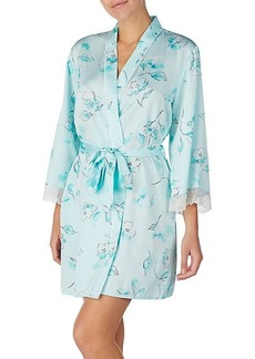 Kate Spade Three-Quarter Floral Lace Robe