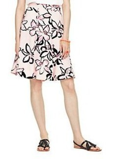 tiger lily crepe skirt