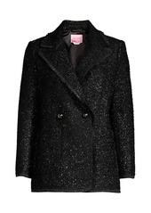 Kate Spade Tinsel Tweed Double Breasted Blazer