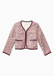 Kate Spade toddlers' knit tweed jacket