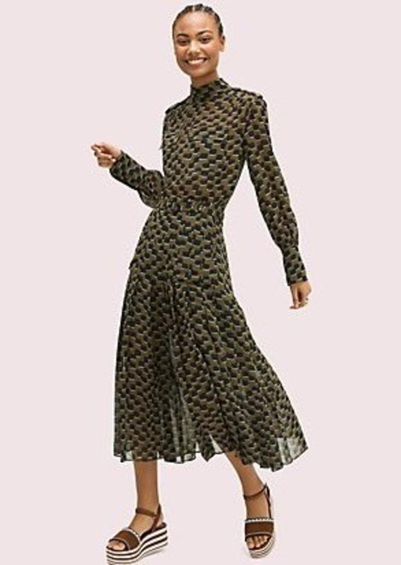 Kate Spade trellis chiffon skirt