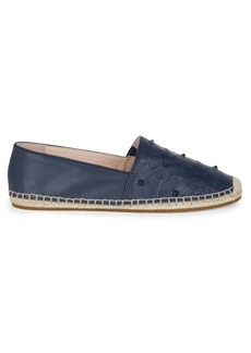 Kate Spade Turin Spade-Embossed Leather Espadrilles
