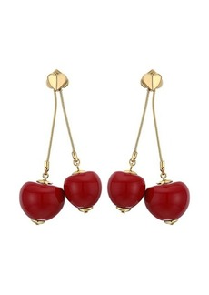 Kate Spade Tutti Fruity Cherry Linear Earrings