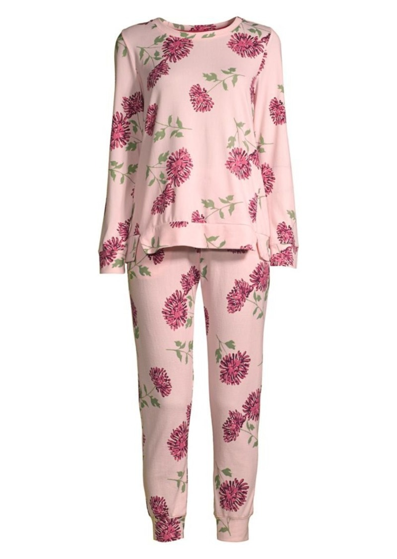 Kate Spade Two-Piece Blooming Floral Brushed Pajama Set