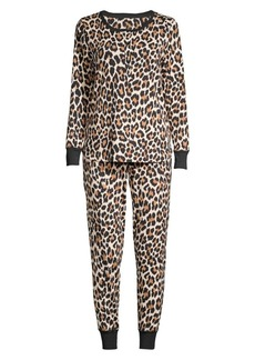 Kate Spade Two-Piece Cheetah Print Pajama Set