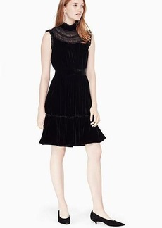 Kate Spade velvet lace trim dress