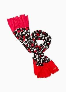 Kate Spade vintage fleur oblong scarf