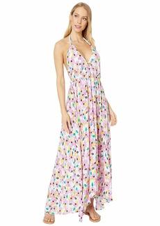 Kate Spade Wallflower Halter Maxi Dress Cover-Up
