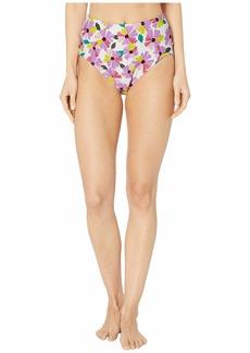 Kate Spade Wallflower High-Waist Bikini Bottoms