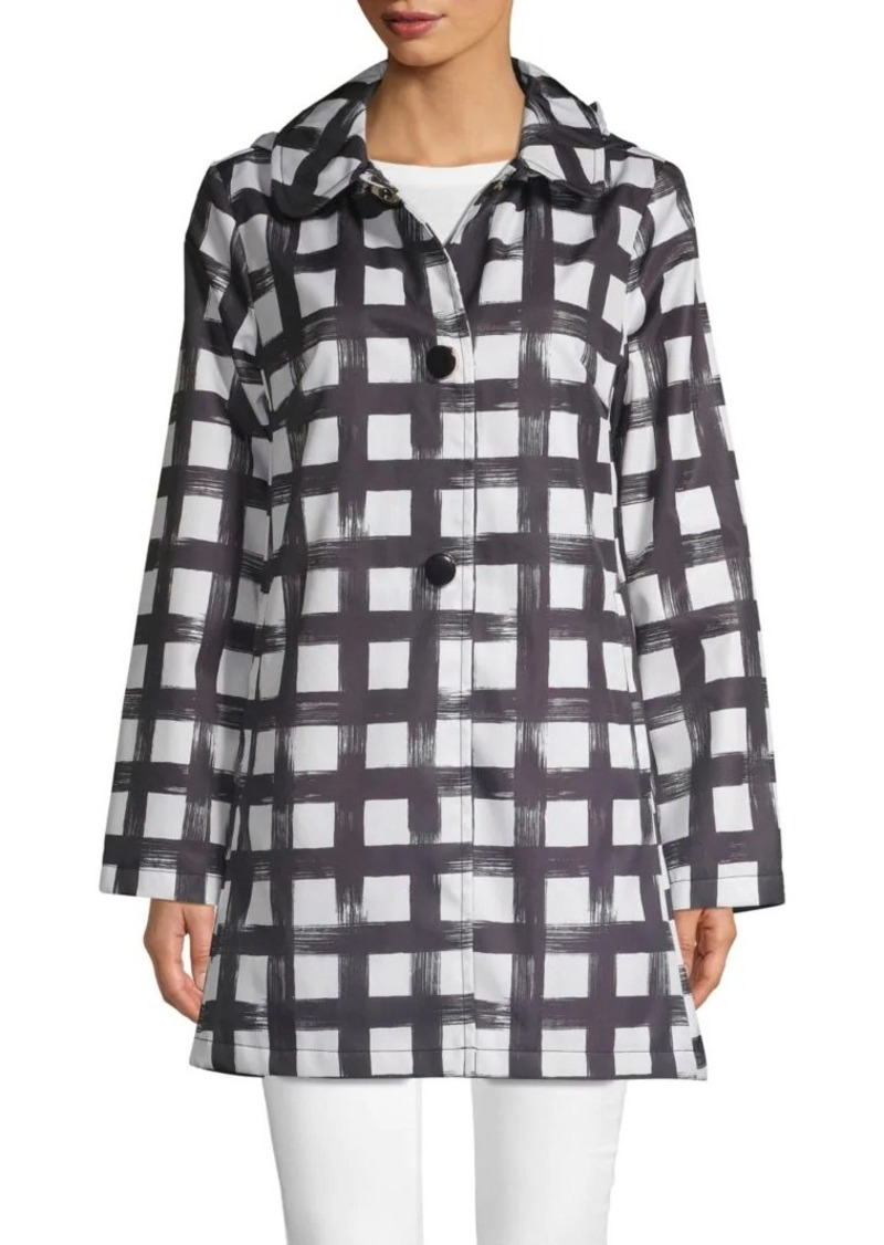 Kate Spade Water-Resistant Printed Raincoat