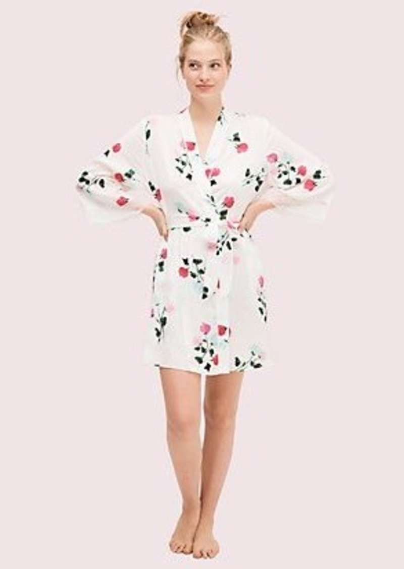 Kate Spade watercolor rose robe