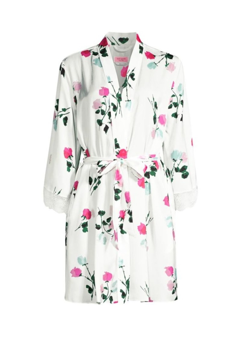 Kate Spade Watercolor Rose Robe
