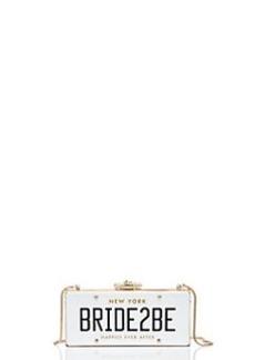 Kate Spade wedding belles bride2be license plate clutch