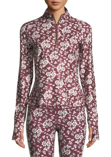Kate Spade whimsy half-zip floral active jacket