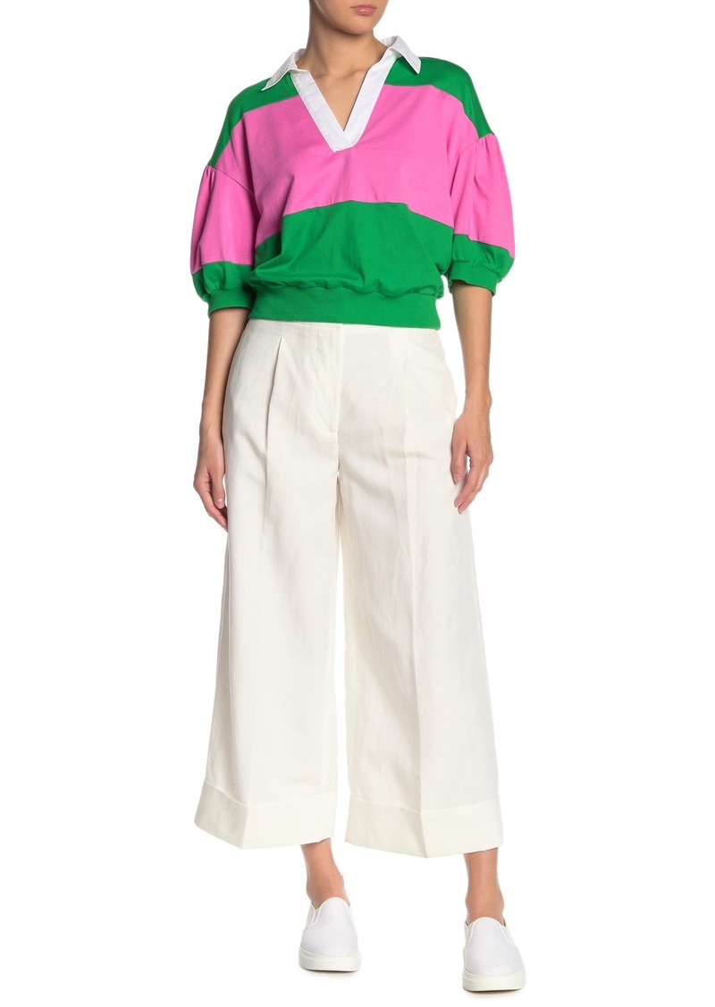 Kate Spade wide leg crop pants
