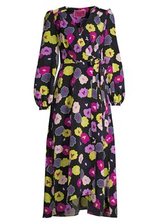 Kate Spade Winter Garden Wrap Midi Dress