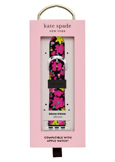 Kate Spade women's floral silicone apple watch strap, 38mm