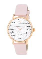 Kate Spade women's metro chalkboard leather strap watch, 34mm