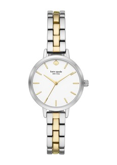 Kate Spade women's metro two-tone bracelet watch, 30mm