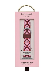 Kate Spade women's pattern silicone apple watch strap, 38mm