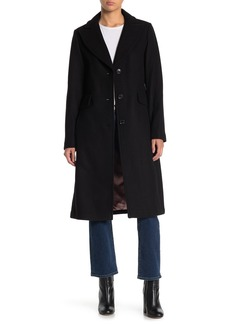 Kate Spade Wool Blend Notch Collar Coat