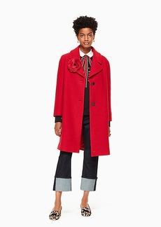 Kate Spade wool boucle poppy coat