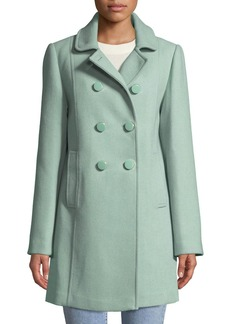 Kate Spade wool twill double-breasted coat