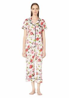 Kate Spade Woven Lawn Cropped Pajama Set