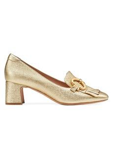 Kate Spade Yarrow Fringe Metallic Leather Loafers