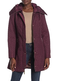 Kate Spade zipper front quilted coat