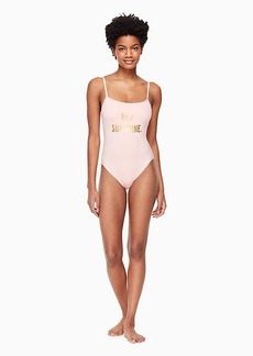 Kate Spade zuma classic one-piece swimsuit