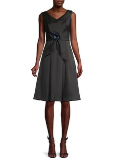 Kay Unger New York Cap Sleeve Fit & Flare Dress
