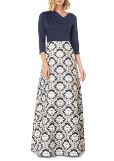 Kay Unger New York Women's Kay Unger Izabella A-Line Evening Gown