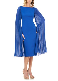 Kay Unger New York Kay Unger Angelica Statement Sleeve Cocktail Dress