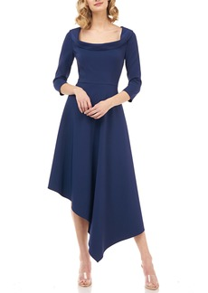 Kay Unger New York Kay Unger Arianna Asymmetrical Hem Midi Dress