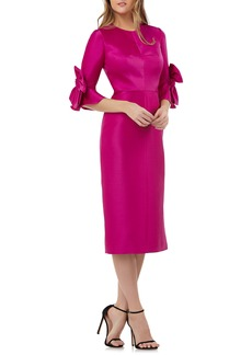 Kay Unger New York Kay Unger Bow Sleeve Stretch Mikado Dress